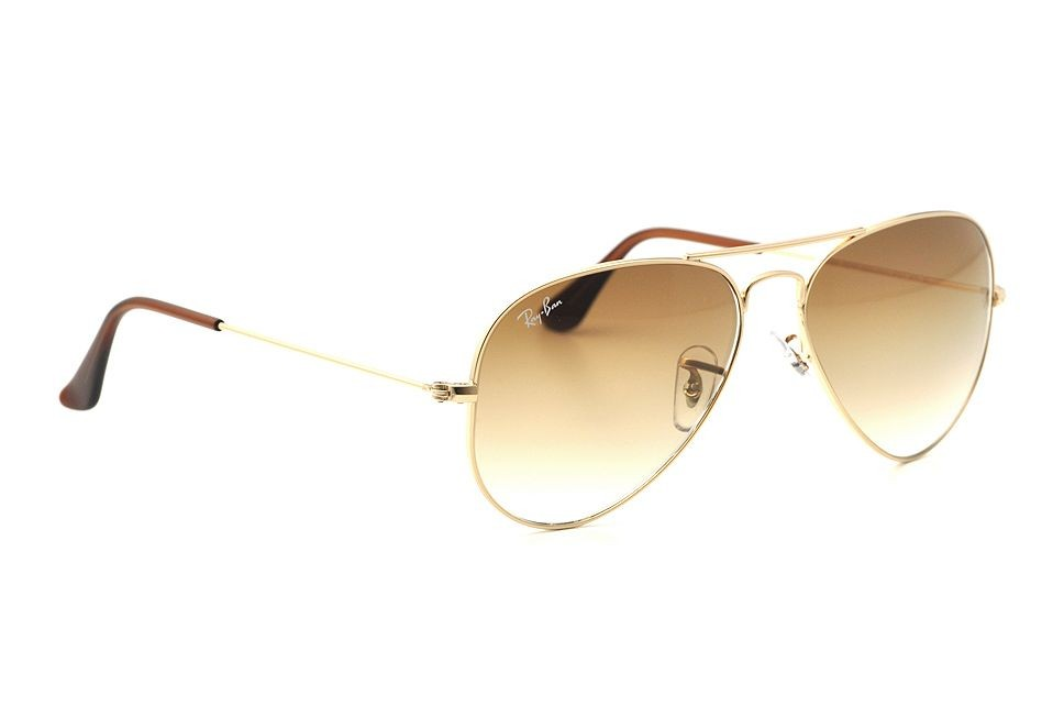 ray ban aviator gold braun small